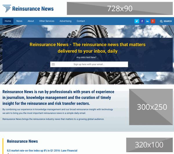 Reinsurance News website screenshot