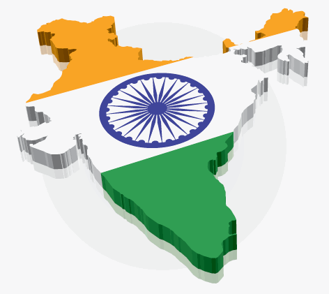 India map and flag