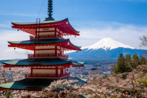 View of Mt Fuji, Japan