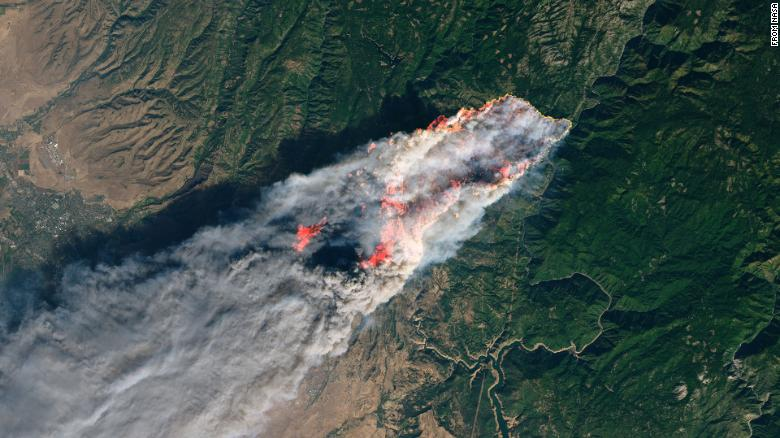 camp-wildfire-nasa