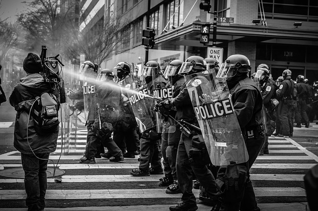 Protest police