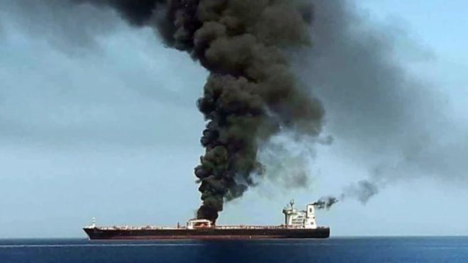 Gulf of Oman oil tanker explosion