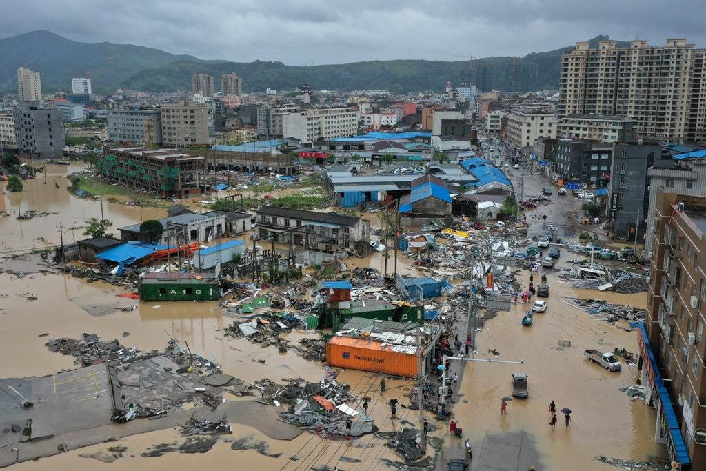 Typhoon Lekima Dajing, in China's Zhejiang Province. Credit: China Network/Reuters
