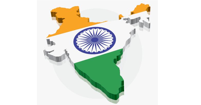 india-map-flag